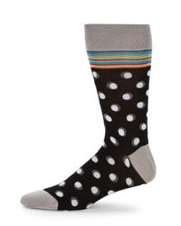 Bugatchi - Black Printed Mid-calf Socks for Men - Lyst