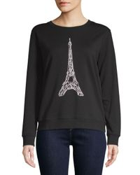 Karl Lagerfeld - Black Corded Eiffel Tower Sweater - Lyst