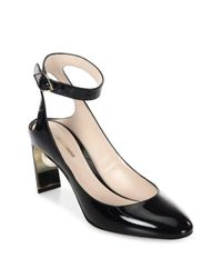 Nicholas Kirkwood - Black Lola Pearl Patent Leather Ankle Strap Pumps - Lyst