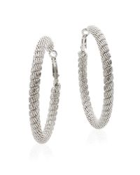 Saks Fifth Avenue - Metallic Mesh Hoop Earrings/silvertone - Lyst