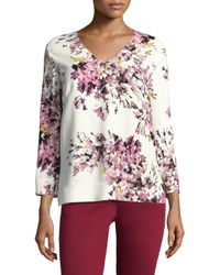 ESCADA - Multicolor Nidarya Floral Top - Lyst