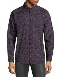 Ben Sherman - Black Floral Cotton Button-down Shirt for Men - Lyst