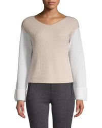 Vince - Multicolor Colorblocked Cashmere Sweater - Lyst