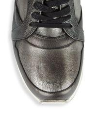 John Varvatos - Metallic 315 Trainer Leather Low-top Sneakers - Lyst