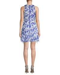 Nicole Miller - Blue Hunter Fit-&-flare Dress - Lyst