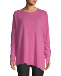 Saks Fifth Avenue - Pink Asymmetrical Cashmere Sweater - Lyst
