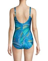 Gottex - Blue Surplice One-piece Swimsuit - Lyst