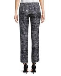 Max Mara - Multicolor Marled Silk Pants - Lyst