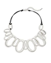 Saks Fifth Avenue - Metallic Multi-link Station Necklace - Lyst