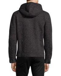 Antony Morato - Gray Heathered Fleece Hoodie for Men - Lyst