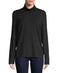 Eileen Fisher - Black Turtleneck Sweater Top - Lyst