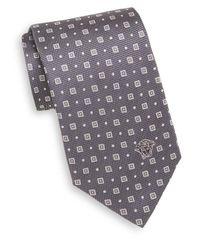 Versace - Gray Silk Foulard Tie for Men - Lyst