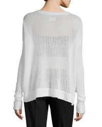 Zadig & Voltaire - Multicolor Killy Fishnet Deluxe Cashmere Sweater - Lyst