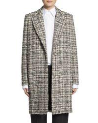 Lanvin - Multicolor Tweed Coat - Lyst