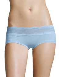 Cosabella - Blue Scalloped Lace Hipsters - Lyst