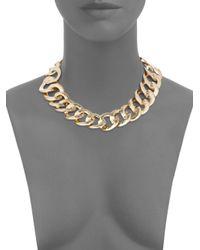 Adriana Orsini - Metallic Curb Chain Collar Necklace/goldtone - Lyst