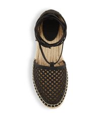 Frye - Black Round Toe Lace-up Espadrilles - Lyst