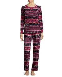 Carole Hochman - Gray Printed Grid Pajamas - Lyst