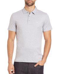 Michael Kors | Gray Logo Cotton Polo for Men | Lyst