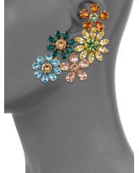 Dolce & Gabbana | Metallic Floral Cluster Earrings | Lyst