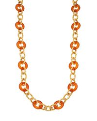 Kenneth Jay Lane - Multicolor Braided Link Necklace - Lyst