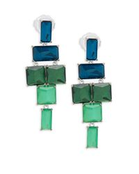 Ippolita - Green 925 Rock Candy Stacked Linear Post Drop Earrings In Taffeta - Lyst