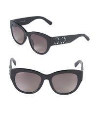 Swarovski Gray 54mm Crystal Square Sunglasses