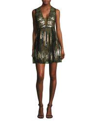 BCBGMAXAZRIA - Black Fit-&-flare Mini Dress - Lyst