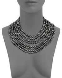 Saks Fifth Avenue - Metallic Layered And Faceted Bead Statement Necklace - Lyst