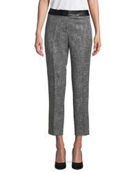 Karl Lagerfeld - Gray Heathered Tweed Trousers - Lyst