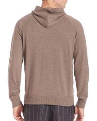 Brunello Cucinelli - Multicolor Long Sleeve Cashmere Hoodie for Men - Lyst
