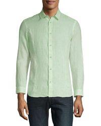 Orlebar Brown - Green Casual Linen Button-down Shirt for Men - Lyst