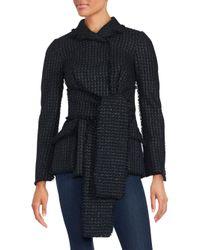 Proenza Schouler - Black Waist Tie Sweater Jacket - Lyst