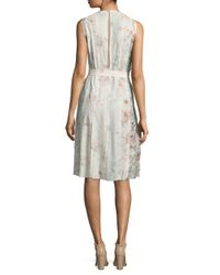 CALVIN KLEIN 205W39NYC - Multicolor Floral Silk Dress - Lyst