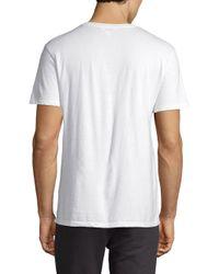 ELEVEN PARIS - White Kendrick University Short-sleeve Cotton Tee for Men - Lyst