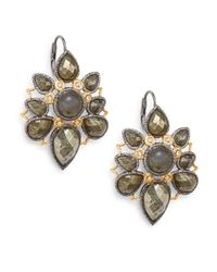 Alexis Bittar - Metallic Pyrite, Labradorite & Swarovski Crystal Mosaic Drop Earrings - Lyst