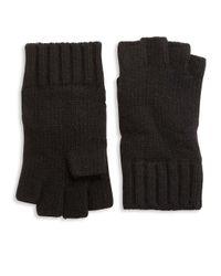 Portolano - Black Solid Knit Cashmere Gloves for Men - Lyst