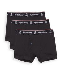 Psycho Bunny - Black Vintage Cotton Boxers, 3-pack for Men - Lyst