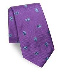 Ike Behar - Purple Paisley Silk Tie for Men - Lyst