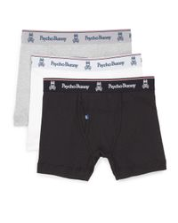 Psycho Bunny - Gray Vintage Cotton Boxer Briefs, 3-pack for Men - Lyst