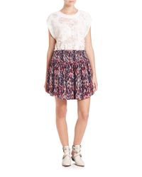 IRO - Pink Orchid Printed Skirt - Lyst