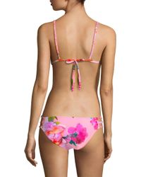 6 Shore Road By Pooja - Pink Blossom-print Bikini Top - Lyst
