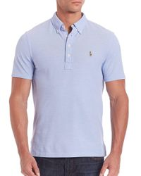 Ralph Lauren Blue Label - White Solid Cotton Polo for Men - Lyst