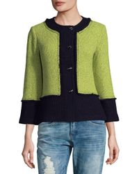 St. John - Multicolor Colorblock Wool-blend Jacket - Lyst
