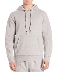Les Benjamins - Gray Solid Hoodie With Kangaroo Pockets for Men - Lyst