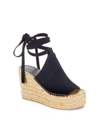 Sigerson Morrison - Blue Audora Espadrille Platform Wedge Sandals - Lyst