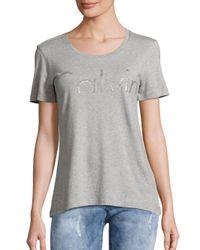 Calvin Klein Jeans - Gray Short Sleeve Roundneck Tee - Lyst