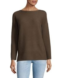 Lafayette 148 New York - Multicolor Ribbed Bateau Wool Sweater - Lyst