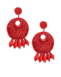 Kenneth Jay Lane - Red Gypsy Earrings - Lyst