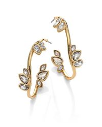 "Alexis Bittar - Metallic Miss Havisham Liquid Crystal Jagged Broken Glass Hoop Earrings/1.4"" - Lyst"